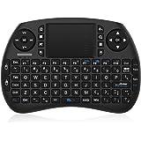 TICTID 2.4GHz Mini Clavier Sans Fil Touchpad Souris Compatible avec Raspberry Pi Android Box,Google Box,Pad PC Smart TV Contr