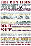 Close Up Lebe Dein Leben! Poster farbige Version (61cm x 91,5cm) + 2 St. Schwarze Posterleisten mit Aufhängung