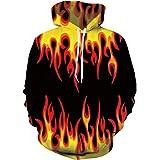 Belovecol Sudaderas con capucha unisex con estampado 3D y bolsillos con cordón
