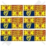 """VERENIGD KONINKRIJK Koninklijke Standaard SCOTLAND Vlag UK 40mm (1,6"""") Mobiele Telefoon Vinyl Mini Stickers, Stickers x6"""