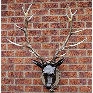 New Contemporary Resin Wall Art For Home Or Garden - Large Deer Stag Head