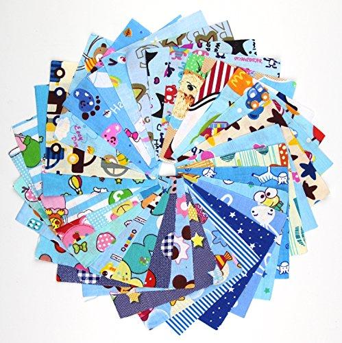 30pcs-blue-series-fabric-cotton-100-printed-boundle-patchwork-squares-of-1010cm