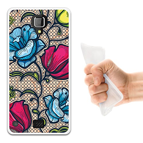 WoowCase Hisense King Kong 4G Hülle, Handyhülle Silikon für [ Hisense King Kong 4G ] Mehrfarbige Blumen 2 Handytasche Handy Cover Case Schutzhülle Flexible TPU - Transparent