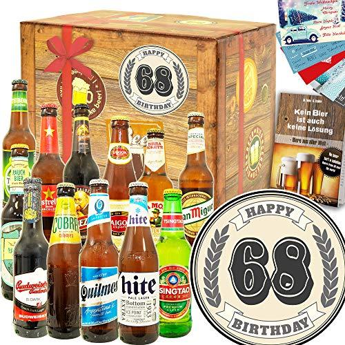 Geschenke zum 68. - 68-Geburtstag Geschenke Männer - Bier Paket Welt