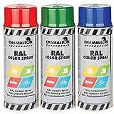 Chamäleon 1K Lack Spray 1 x 400ml Weiß GLÄNZEND AUTOFARBE Farbe RAL 9010 AUTOLACK SPRÜHLACK