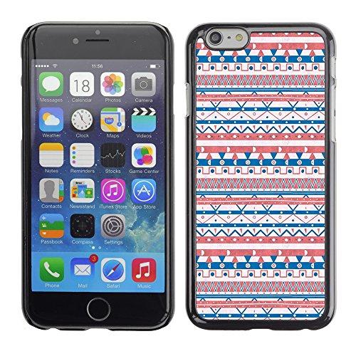 Graphic4You BLUE AND CUBIC Muster Harte Hülle Case Tasche Schutzhülle für Apple iPhone 6 / 6S Design #9