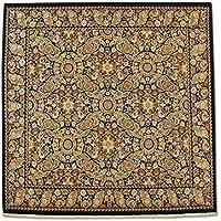 Tradizionale persiano Tappeto quadrato Handmade Aubusson, Lana, Nero, 303x 299cm,