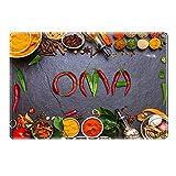 Tischset mit Namen ''Oma'' Motiv Chili - Tischunterlage, Platzset, Platzdeckchen, Platzunterlage, Namenstischset