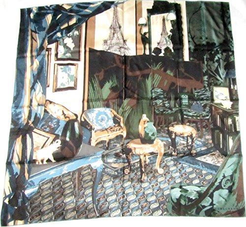 longchamp-seidentuch-89-x-89cm-zimmer-mit-aussicht-auf-paris-petrol-und-grun-foulard-seide-carre-sca