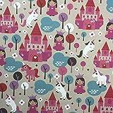 Prinzessin Baumwolle Rich Leinen Look Stoff für Vorhänge Jalousien Craft Quilting Patchwork und Polstermöbeln ca. 140cm breit, Meterware,