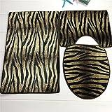Cojín de la teja de la alfombra del leopardo de los tigres 3pcs - 50 * 80cm los 50 * 40cm los 49 * 40cm