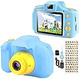 YunLone Macchina Fotografica per Bambini 12MP Selfie Fotocamera Bambino con Scheda 32GB, Custodia, Batteria 1200mAh, Lettore