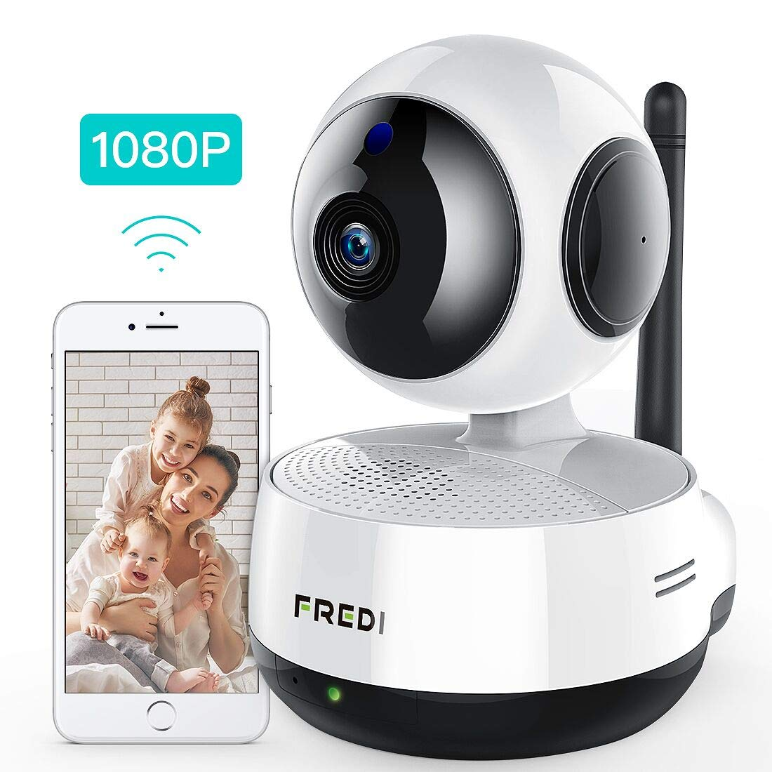 FREDI Wireless IP Camera, 1080P HD Baby Monitor, WiFi IP Camera Home Surveillance Security Camera, Cloud Service/IR…