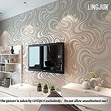 Moderno minimalista papel agua planta patrón 3d en relieve de rollo de papel pintado para la pared salón o dormitorio plata Color gris