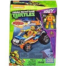 Mega Bloks DMX38 Vehículo Lanzador de Pizza de Michelangelo, Tortugas Ninja, Juego de construcción