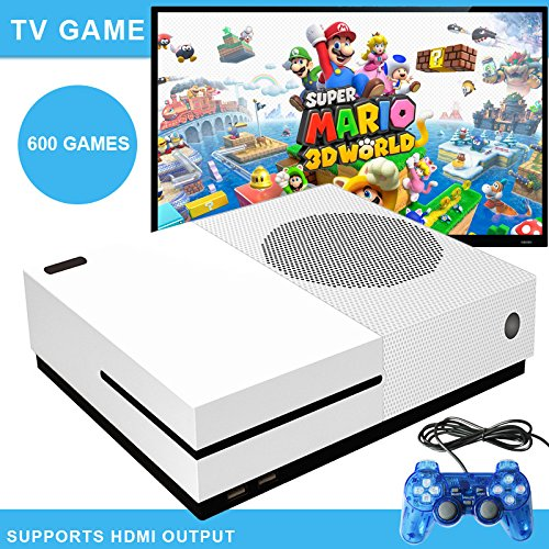 Zantec HD TV Spielekonsole integrierte 600Retro-Klassik-Spiele mit 2USB-Joysticks