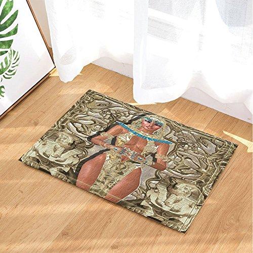 Décoration égyptienne antique la déesse de la lumière murale en Egypte tapis de bain anti-dérapant paillasson entrées au sol tapis de...