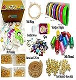 #6: Silk thread jewellery making kit,Jhumka & Bangle kit with Shiny Silk thread full box- 10 colors