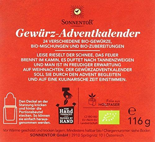 Sonnentor Gewürz-Adventskalender, 1er Pack (1 x 116 g) - Bio - 4