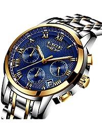 a5a1ce46a974 Relojes De Hombre Deportivos Clásicos Militar Especiales Marea Moda Acero  Inoxidable Plateado Lujo Negro Oro Azul