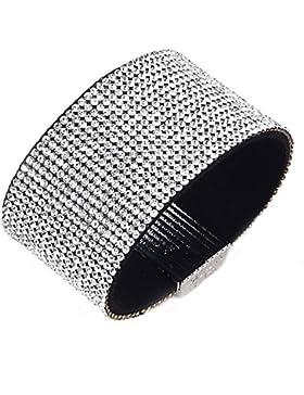 Strassarmband Kristall Magnetverschluss trendy Weiß