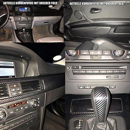 3er E90 3D Carbon Folie Zierleisten Set von Wizuals© E90 E91 E92 E93 für alle E90er Modelle