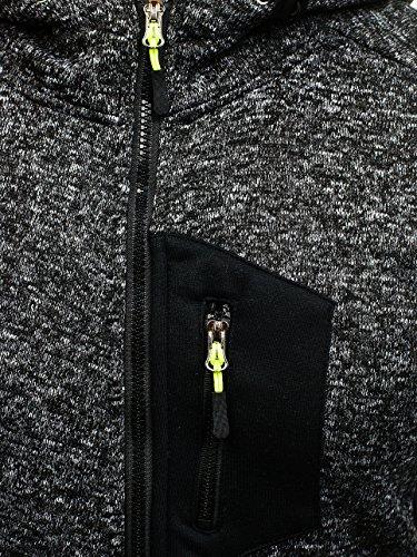 BOLF Herren Sweatshirt mit Kapuze Sweater Kapuzenpullover 1A1 Schwarz_AK48