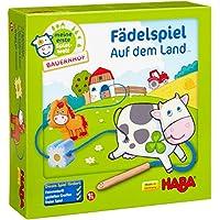 Haba-5580-Meine-erste-Spielwelt-Bauernhof-Fdelspiel-auf-dem-Land Haba 5580 – Meine erste Spielwelt Bauernhof Fädelspiel auf dem Land, liebevoll gestaltetes Lernspiel und Motorikspielzeug ab 18 Monaten, Holzspielzeug mit Bauernhofmotiven -