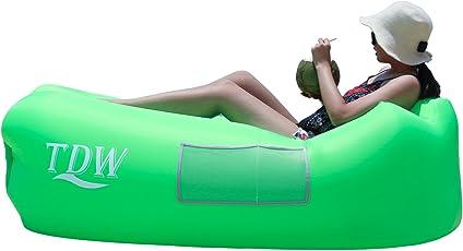 TDW Aufblasbares Sofa Outdoor,Luftsofa, Air Aufblasbares,Aufblasbare Liege, Aufblasbarer Sitzsack, Air Lounger super geeignet für indoor im Freien beim campen oder bei Picknicks