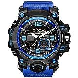 YZPNSSB Reloj electrónico Masculino Exterior Fuerzas Especiales táctico Militar Masculino Adulto multifunción Deportivo Impermeable Reloj al Aire Libre (Color : Azul)