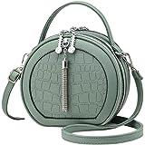 Vismiintrend Round Vegan Leather Circular Sling Bag for Girls and Women with Adjustable Strap | Tassel | Stylish | Crossbody