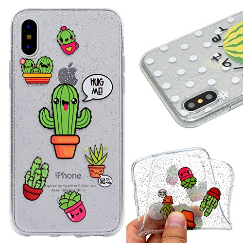 Cover per iPhone X Custodia Silicone , YIGA Piccolo panda Cover Cristallo Trasparente Guscio Silicone Morbido TPU Case Soft Shell Skin Protezione Custodia per Apple iPhone X (5.8) MM59