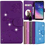Samsung Galaxy A6 Plus (2018) Case, Meroollc Luxury PU Leather Wallet Flip Protective Girls Case Cover With Card Slots And Stand For Samsung Galaxy A6 Plus (2018) Purple