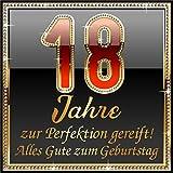 3 St. Aufkleber Original RAHMENLOS® Design: Selbstklebendes Flaschen-Etikett zum 18. Geburtstag: 18 JahreZur Perfektion gereift!