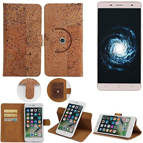 K-S-Trade Schutz Hülle für Cubot H1 Handyhülle Kork Handy Tasche Korkhülle Schutzhülle Handytasche Wallet Case Walletcase Flip Cover Smartphone