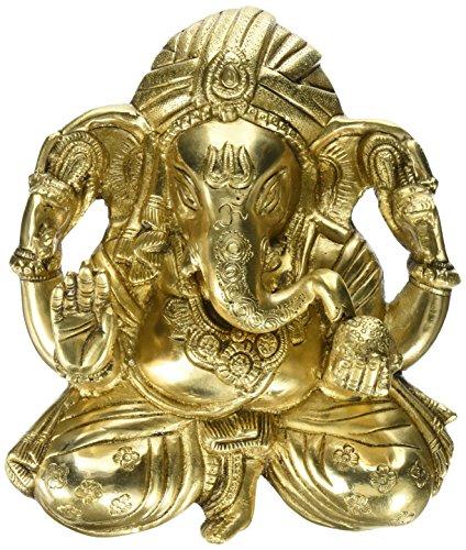 Articoli da regalo Ganesha Art Work indù decalcomania di religiosi Indian Room Décor ottone Statua 9 pollici