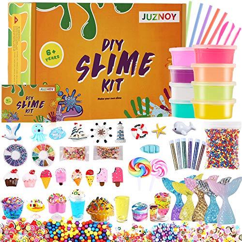 DIY Slime Kit, Schleim Set zum Selbermachen mit 8Pcs Crystal Slime, Glitter, Geburtstagsgeschenk Weihnachtsgeschenk für Kinder