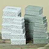 Juego de 10Cartón Caja de cartón del paquete Corazón L13–32cm papel 3249600(gris)