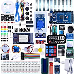 robótica: ELEGOO Conjunto Mas Completo y Avanzado de Iniciación a Arduino Mega 2560 con Gu...