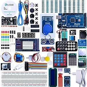Elegoo Arduino Mega 2560 R3 Kit de Démarrage Le Plus Complet avec Manuel d'Utilisation Français pour Débutants et Professionnels DIY
