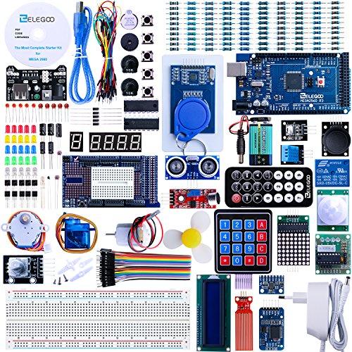Elegoo MEGA2560 R3 Le Kit de démarrage Le Plus complet avec didacticiel Italien Compatible avec Les projets Arduino IDE