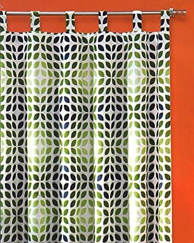 Rideau voilage opaque de style mesure 260 x 140 cm réglable - 60–70 étui armardi lourde beau cas qualité-vintage rideaux ...auspacken typ250, suspendre, c'est terminé!, vert, HxB 260x140 cm