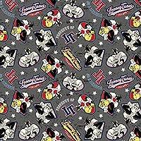 Looney Tunes  2M Yap. Folyo - Siyah Desenli