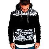 Rikay Mens Casual Long Sleeve Plain Fitness Hoodies Pullover Sports Hooded Sweatshirt Hoodie 7 Colors Plus Size M-3XL