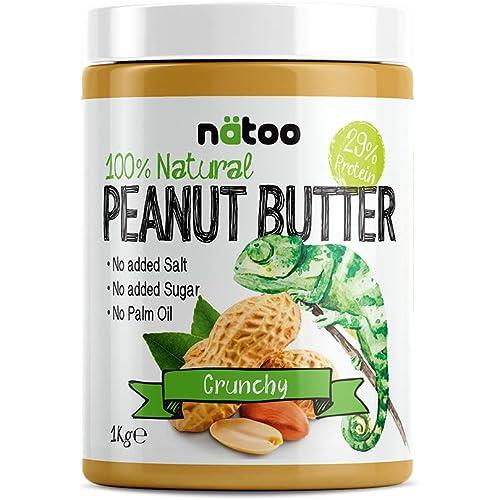 NATOO 100% Burro d'arachidi Proteico Peanut Butter Crunchy 1kg