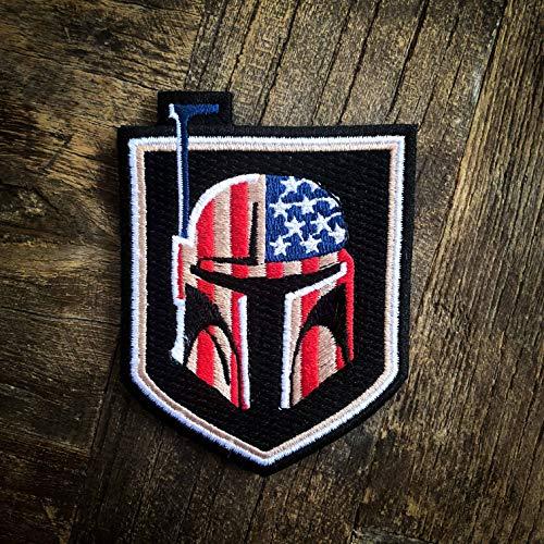 NEO+ Tactical Boba Fett Bounty Hunter US Flag Star Wars 100% gestickter Morale Patch - Haken Rückseite