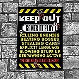 Gaming Gamer Tür Poster Keep Out Gamer at Work Xbox Playstation Art Wand 001von inspiriert wallsâ ®
