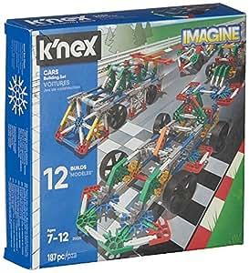 K'NEX 33867 - Bau- und Konstruktionsspielzeug Set Cars, Baukasten Fahrzeuge mit 187 Teilen, Konstruktionsset für 12 Fahrzeug Modelle, Bauset für Kinder ab 7+ Jahre, Building Set zum Bauen von Autos