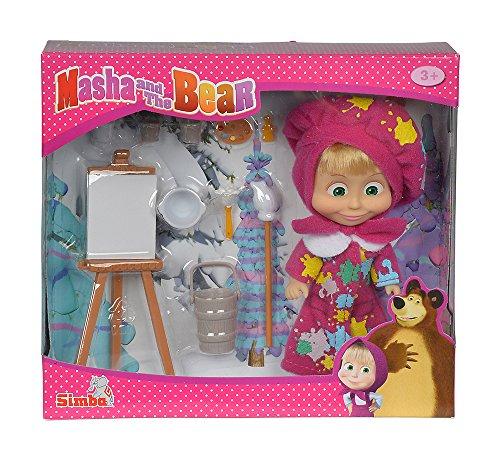 Simba 109302047 - Mascha und der Bär - Mascha Puppe als Malerin Preisvergleich