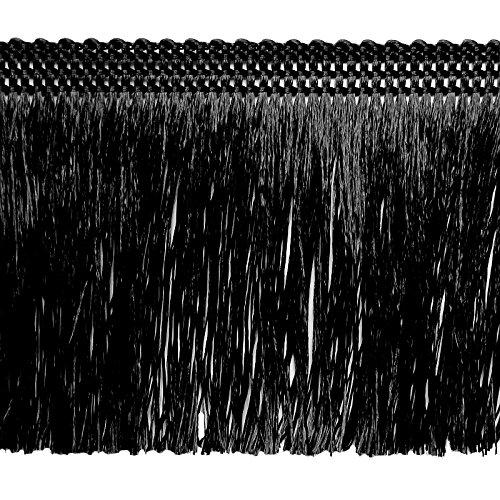 Mosel Avenue Art & Gobelin Studio 3,0 lfm Fransen 60mm Farbe Schwarz/3,0-6,0-9,0 m usw/Fransenborte Posamentenborte Bordüre Decoborte Borte Spitzenborte Posamentenborte Dekoborte Borte